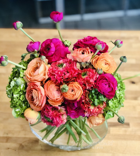 Bright and colorful Ranunculus