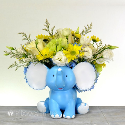 Baby's Blue elephant - B33