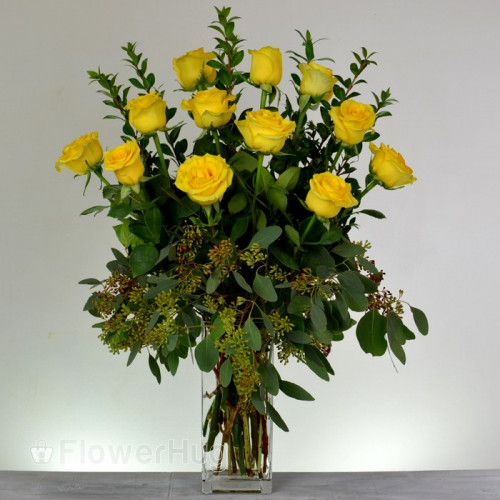 Glowing Yellow Roses - R16