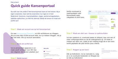 Quick guide FLOW Kansenportaal medewerker