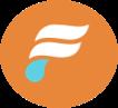 flume logo on orange