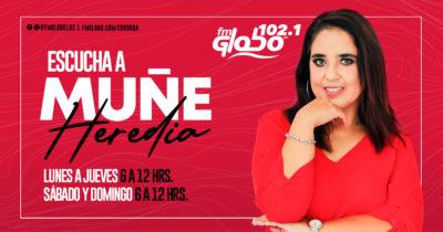 MUÑE HEREDIA POR FM GLOBO 102.1