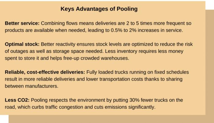 Key advantages of pooling