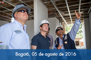 Gerente del Fondo Adaptación supervisa avance de obras en Gramalote