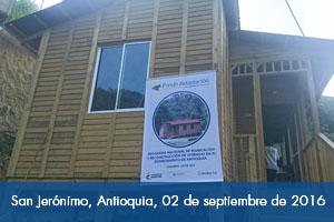 Casas de madera llegaron a San Jerónimo, Antioquia