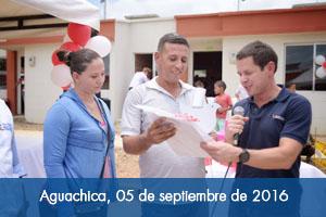 Fondo Adaptación entrega 141 viviendas en Aguachica, Cesar