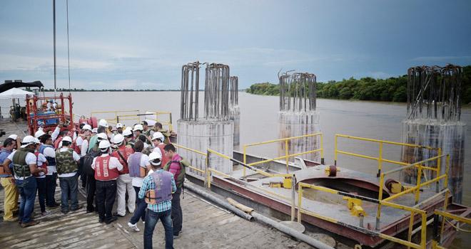 Con recursos del Fondo Adaptación se construye el puente más grande de Colombia