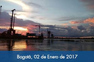 En sólo tres meses avances de obra del puente más largo de Colombia pasó de 20% a 45%