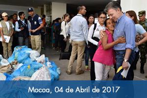 Avanza entrega de ayudas y plan para la reconstrucción de Mocoa