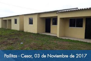 Más de 120 habitantes de Pailitas (Cesar) ya tienen casa propia adaptada al cambio climático