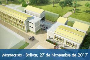 Obras del colegio de Montecristo en Bolívar iniciarán la última semana de noviembre