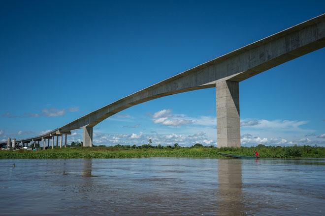 Concluye la unión del puente Roncador, que será el más largo de Colombia