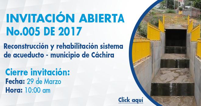 Invitación Abierta 005 de 2017