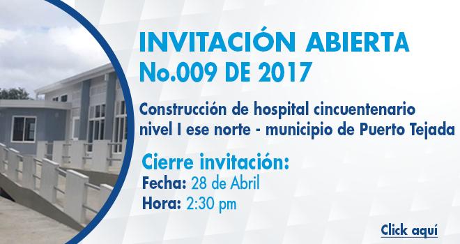 Invitación Abierta 009 de 2017