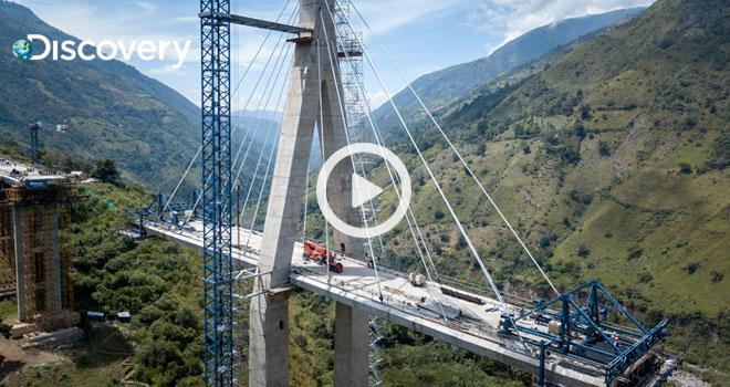 Fondo Adaptación construye puente atirantado más alto de suramérica