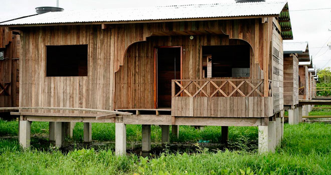 Avanza construcción de 157 casas palafiticas en Riosucio (Chocó)