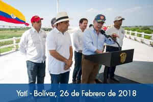 Presidente Santos recorrió el puente más largo de Colombia