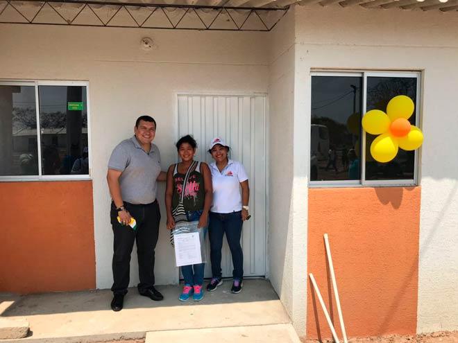 Gamarra (Cesar) estrena casas adaptadas al cambio climático