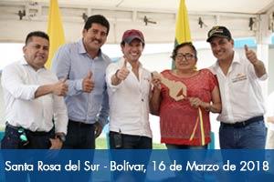 Más de 2.100 personas disfrutan desde hoy de una urbanización adaptada al cambio climático en Santa Rosa del Sur (Bolívar)