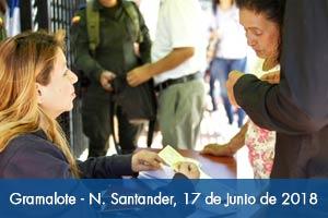 Más de 3.200 habitantes votaron en el nuevo Gramalote  en Norte de Santander