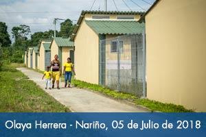 Más de 1.500 nariñenses de Olaya Herrera reciben casa nueva
