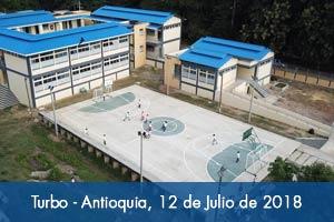 Alumnos de Turbo (Antioquia) ya cuentan con un nuevo colegio adaptado al cambio climático
