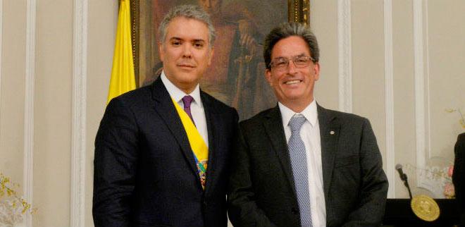 Presidente Iván Duque posesiona a Alberto Carrasquilla Barrera como Ministro de Hacienda y Crédito Público