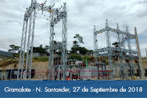 Lista nueva subestación eléctrica de Gramalote que beneficia al occidente de Norte de Santander