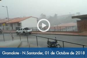 Cae fuerte tormenta en Gramalote