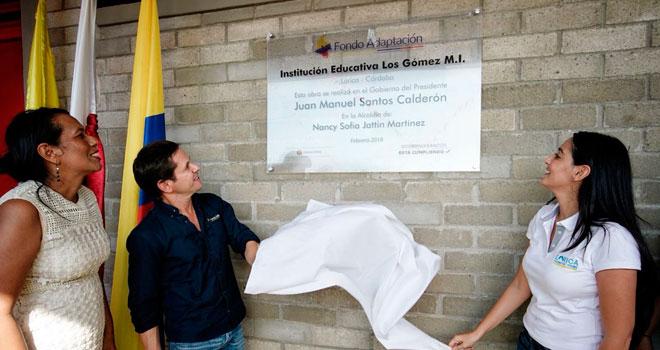 Inauguración Institución Educativa Los Gómez (Lorica - Córdoba)