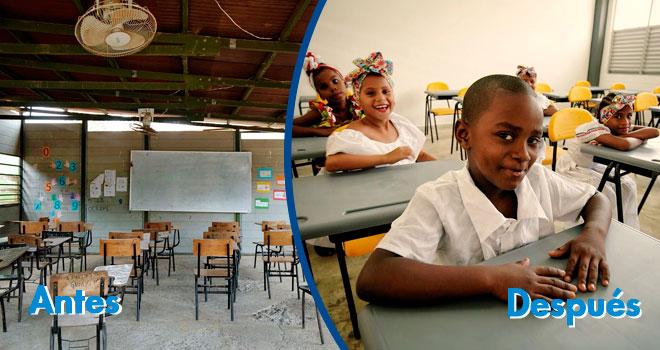 Más de 300 niños ya cuentan con nuevo colegio en las montañas de Turbo (Antioquia)