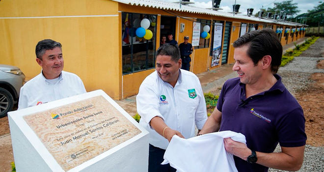 Más de 240 habitantes de Ortega (Tolima) reciben casas nuevas adaptadas al cambio climático