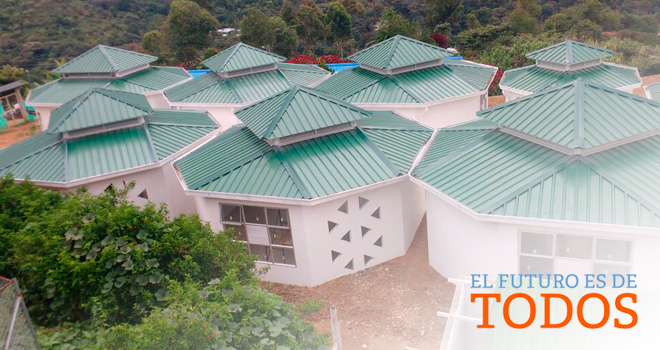Fondo Adaptación entrega colegio a niños indígenas de la comunidad Nasa en Jambaló