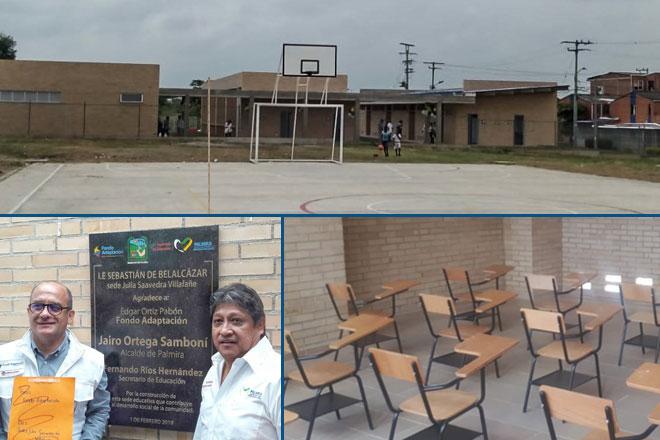 Palmira cuenta con nuevo colegio adaptado al cambio climático