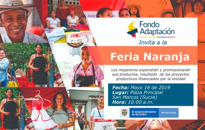 Fondo Adaptación realiza primera Feria Naranja en La Mojana
