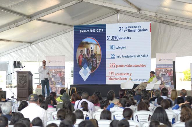 En el último año el Fondo Adaptación ha entregado más de 3.500 obras que benefician a medio millón de colombianos