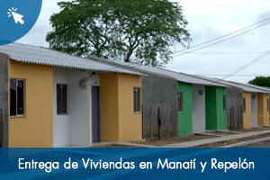 Entrega de viviendas en Manatí y Repelón