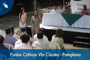 Entrega de 11 puntos críticos rehabilitados en la vía Cúcuta-Pamplona