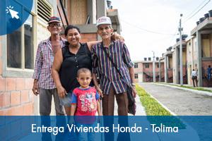 Entrega 96 viviendas en Honda - Tolima
