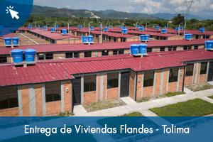 Entrega de Viviendas Flandes - Tolima