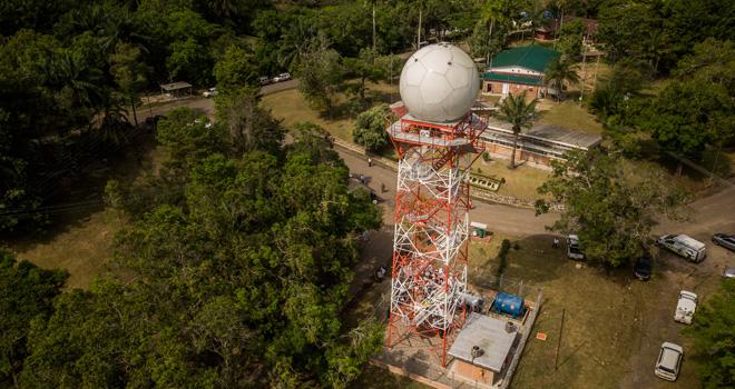 Fondo Adaptación entrega radar meteorológico en Barrancabermeja