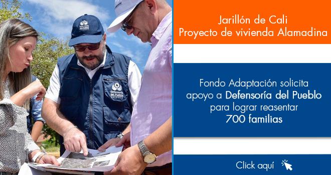 Fondo Adaptación solicita apoyo a Defensoría del Pueblo para lograr reasentar 700 familias