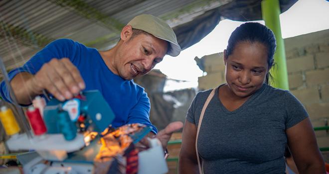 430 personas del corregimiento de Gambote se benefician con proyectos de acompañamiento social del Fondo Adaptación