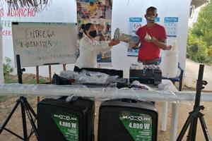 Fondo Adaptación entregó a Comunicadores Populares de Villas de Mompox herramientas para desarrollar su labor social