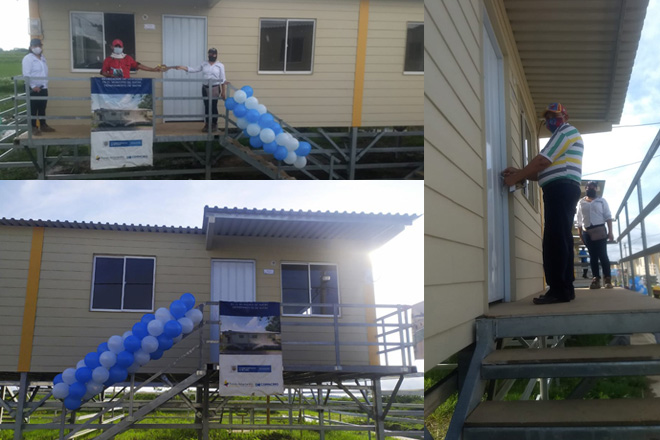 Fondo Adaptación entrega 40 viviendas palafíticas, resistentes y adaptables a condiciones de inundación, en Sucre-Sucre.