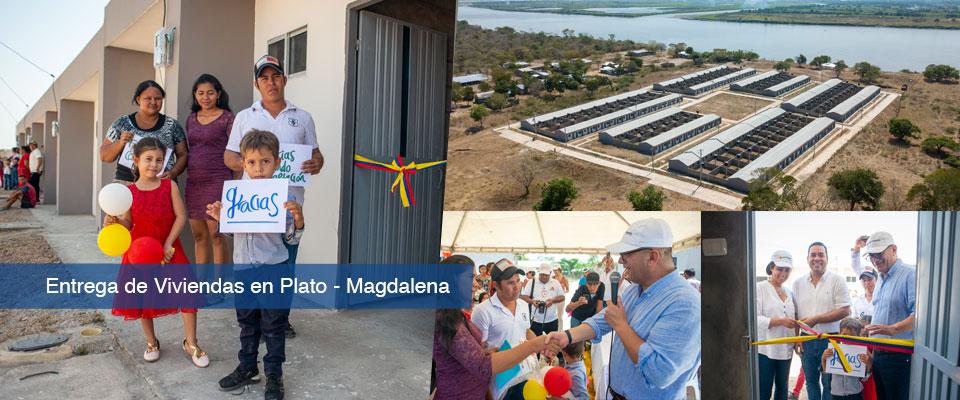 106 familias de Plato Magdalena reciben vivienda nueva del Fondo Adaptación