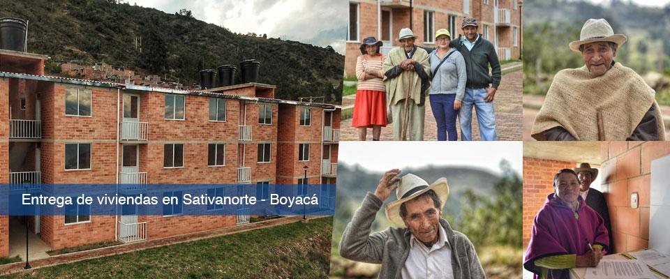 Fondo Adaptación Entrega 60 viviendas en Sativanorte, Boyacá