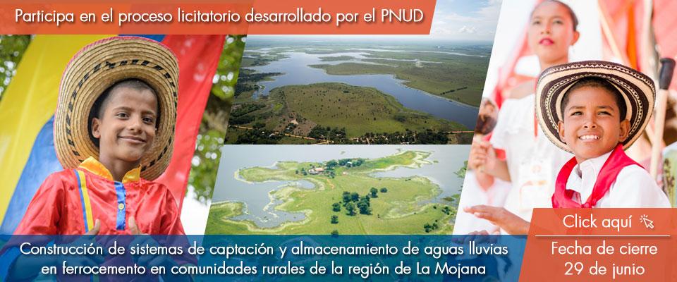 Construcción de sistemas de captación y almacenamiento de aguas lluvias en ferrocemento de 5.000 litros (unidad familiar) y 20.000 litros (unidad comunitaria) en comunidades rurales de la región de La Mojana.