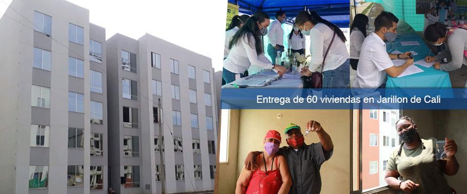 Gobierno Nacional, a través del Fondo Adaptación, entregó 60 viviendas más en Jarillón de Cali