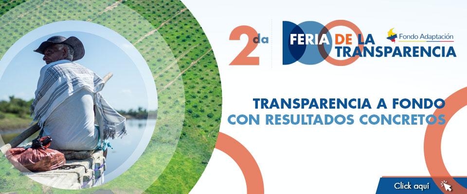 Feria de La Transparencia Jueves 30 de julio ocho de la mañana